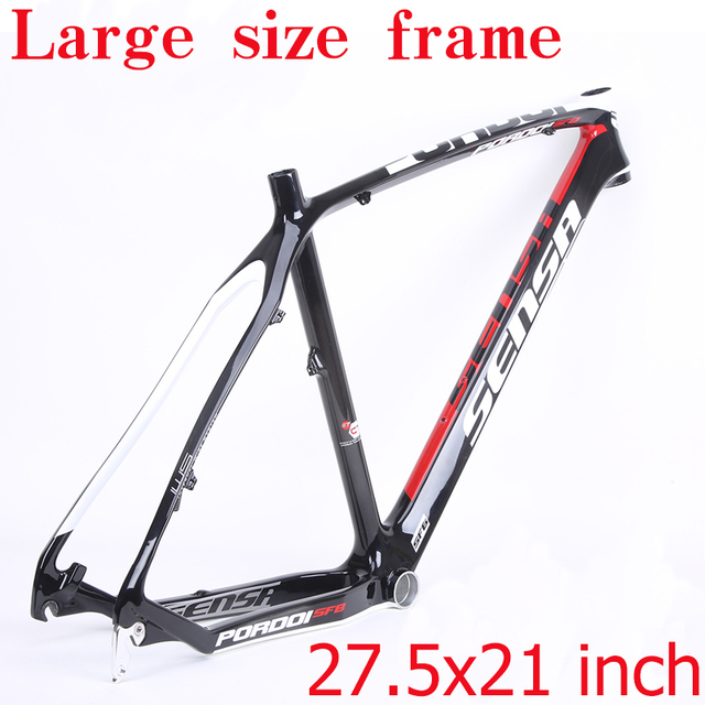SENSA T800 углеродная MTB велосипедная Рама 27,5 er mtb углеродная рама 27,5x21 дюймов рама карбоновая для горного велосипеда 135*9 мм велосипедная Рама