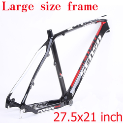 Sesa t800 carbono mtb quadro da bicicleta 27.5er mtb quadro de carbono 27.5x21 polegada de carbono mountain bike quadro 135*9mm