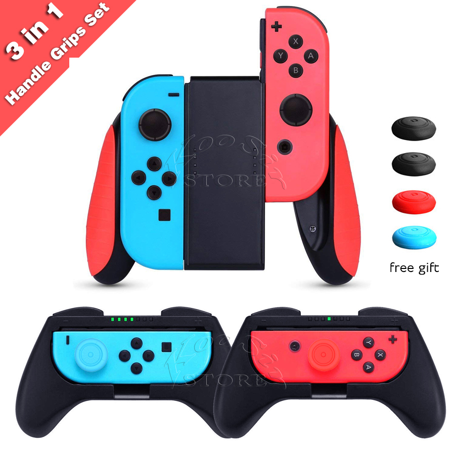 Nintend Switch Joy Con Controller Comfort Grip Steering Wheel Kit Nintendoswitch Handle Bracket Holder for Nintendo Switch Games