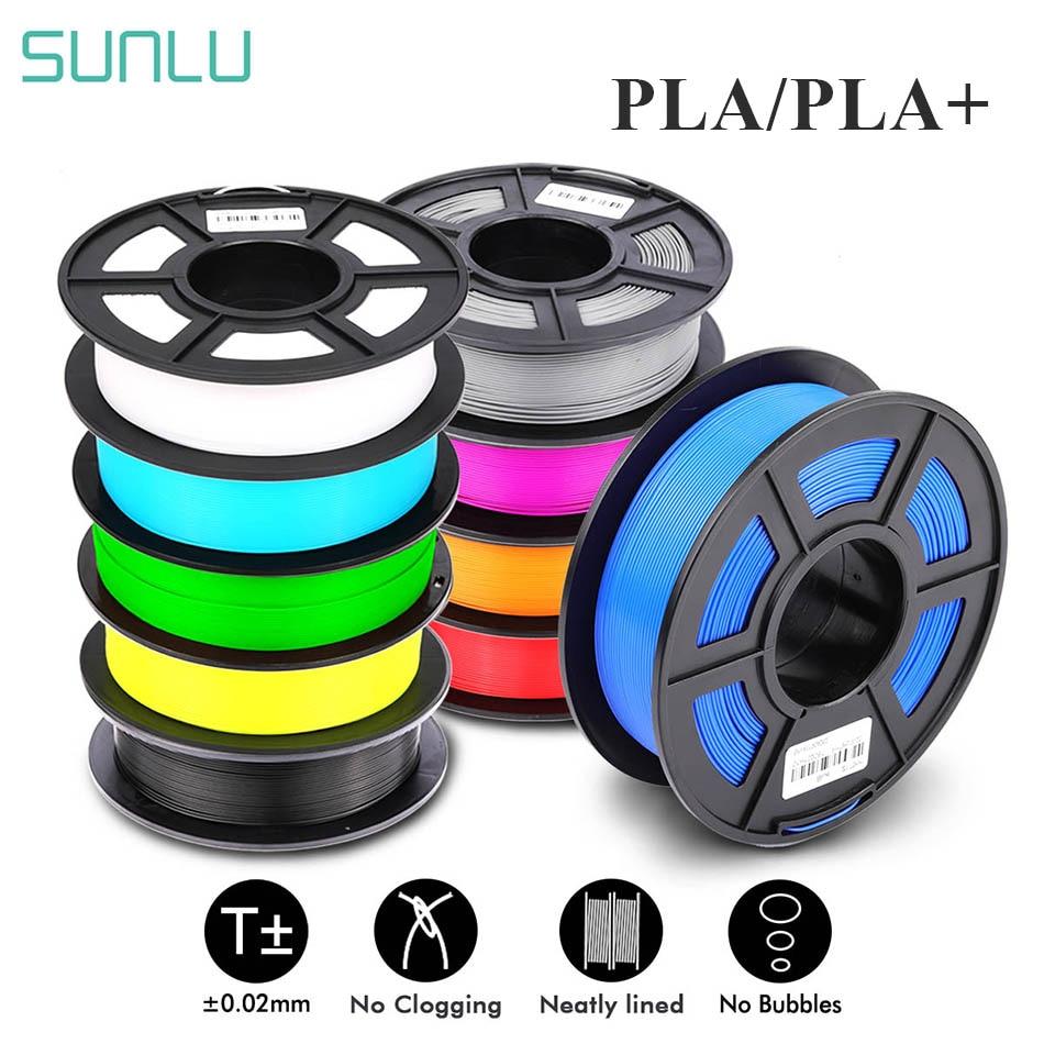 SUNLU PLA 1 75mm PLA PLUS Filament 1KG Accuracy Dimension   -0 02mm Multi-colors For Choose 3D Printer Filament Plastic PLA