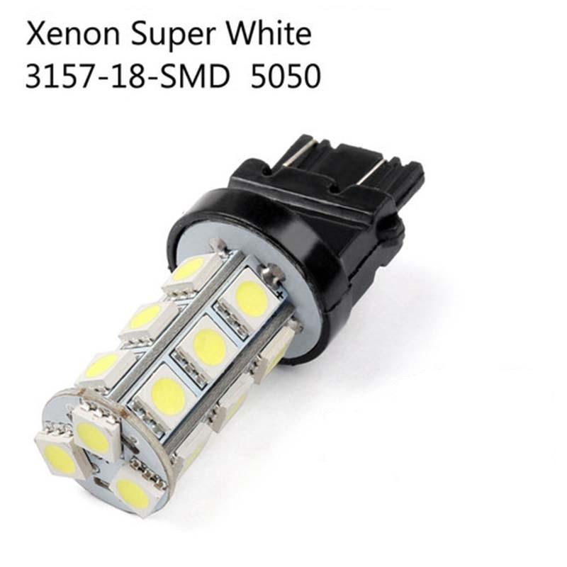 2 or 10pcs X Super Bright White 3157 3156 18 SMD LED Tail Brake Running Light Car Led Light Bulbs T25 4114 Turn Signal Car light-in Car Headlight Bulbs(LED) from Automobiles & Motorcycles