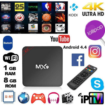 4K HD Set Top Box Quad Core Tv Box Android 4.4 1GB RAM 8GB ROM For TV BOX 2.0 HD HDMI SD 2.4GHz Smart Tv Receivers Projector