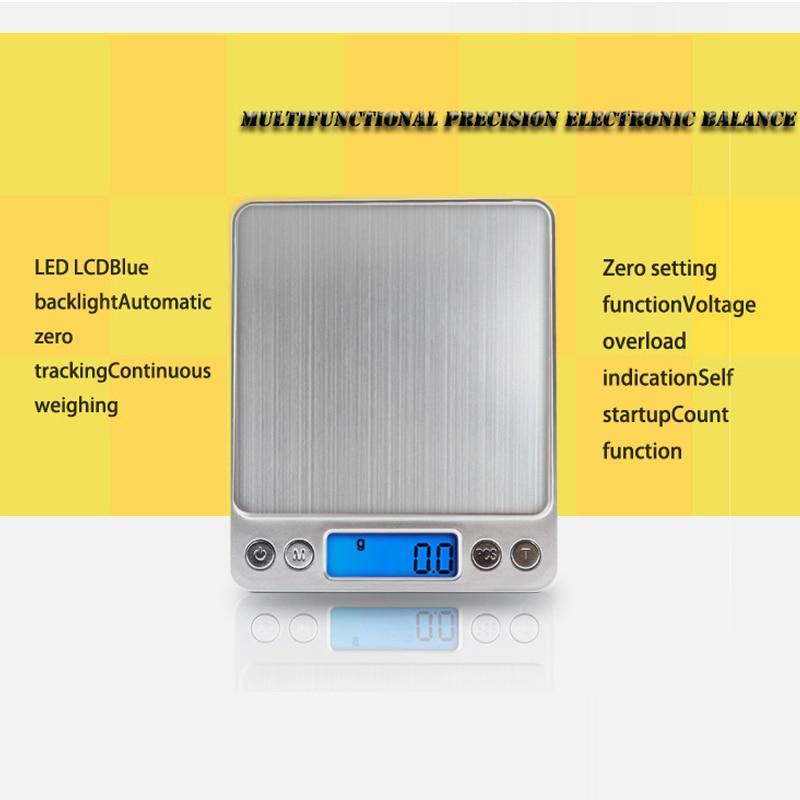 Кухонные электронные весы, Портативные карманные электронные весы, измеритель веса для кухни, с ЖК дисплеем-1