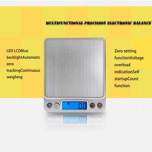 Image 2 - ميزان اليكتروني صغير محمول, 500/0.01جرام, 3000/0.1جرام بشاشة LCD لقياس وزن المجوهرات و للمطبخ و البريد