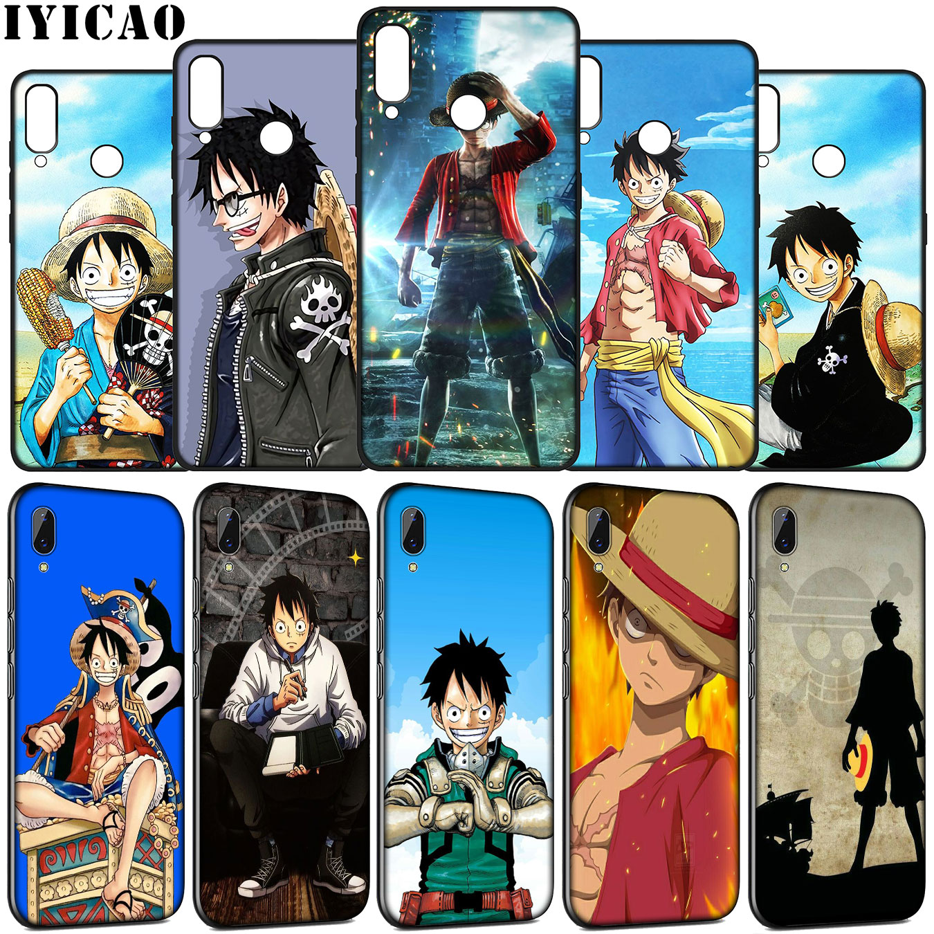 IYICAO Luffy <font><b>one</b></font> <font><b>piece</b></font> Soft Silicone Case for Huawei Y9 Y7 Y6 Prime <font><b>2019</b></font> <font><b>Honor</b></font> <font><b>view</b></font> 20 8C 8X 8 9 9X <font><b>10</b></font> <font><b>Lite</b></font> 7C 7X 7A Pro <font><b>Cover</b></font> image