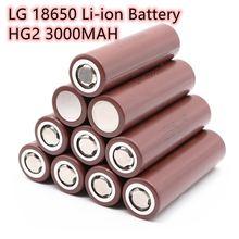 2020  100% original 18650 battery HG2 3000mah 3.7v rechargeable battery for HG2 18650 lithium battery 3.7 3000 mah original electronic cigarette 240w vaptio n1 pro tc box mod vaping mod support vw 18650 battery fits 510 thread tank atomizer