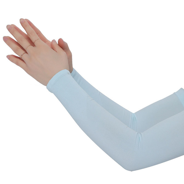 Mangas de braço unissex braço sem dedos manga protetor solar proteção uv gelo legal ciclismo correndo pesca escalada condução braço capa 3