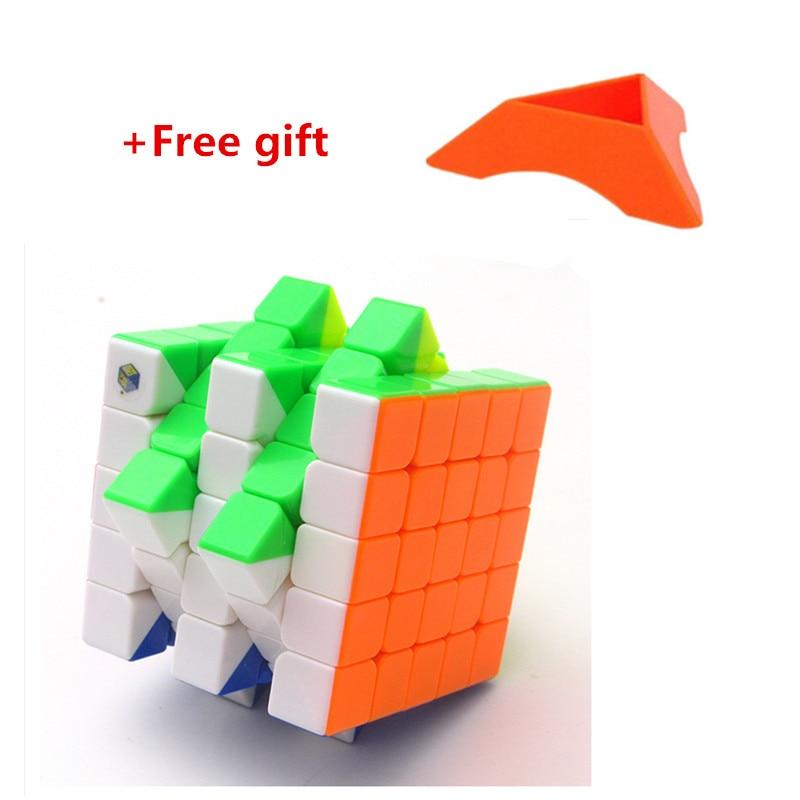 Yuxin 5*5*5 Nuvem Velocidade Cubo Neo 5x5x5 Cubo Magico Raciocínio 5x5 Cubo mágico Brinquedos Educativos Para Crianças Menino Brinquedo Escritório