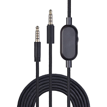 2.0M Braided Replacement Cable Extension Cord Wire for Logitech G433 G233 G Pro X Gaming Headset With Mute Volume Control Clip