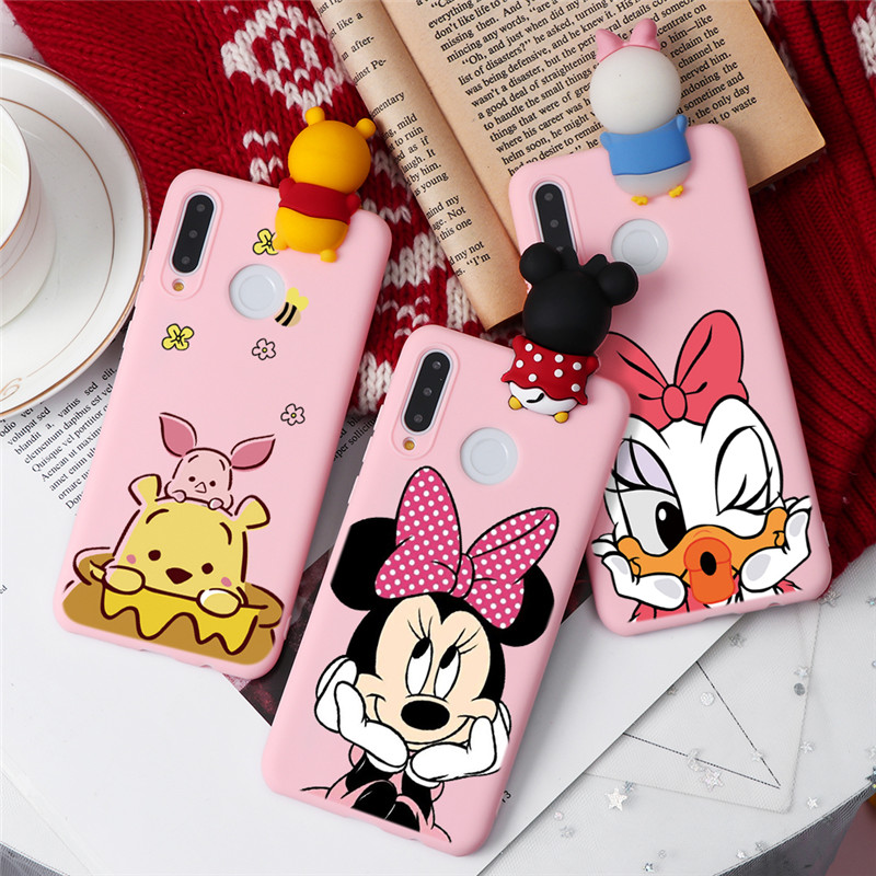 Cute Cartoon Doll Caso For Coque Huawei P30 P20 Lite P10 P9 Mate 30 10 Lite P40 Pro P Smart Y6 Y9 Prime 2019 2018 Funda Cover