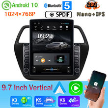 "9.7"" Vertical Style Car Media GPS CarPlay Android 10 360 Camera Radio For Suzuki SX4 S-Cross S Cross 2013-2017 PX6 4+64G 4G WiFi(China)"