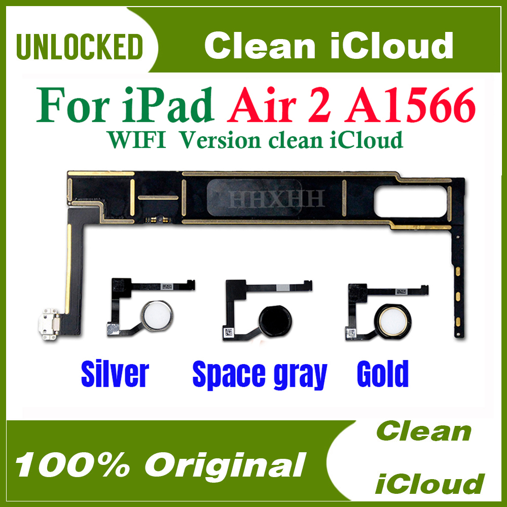 For iPad Air 2nd Gen WiFi Back Door Battery Cover Case Housing Space Gray A1566