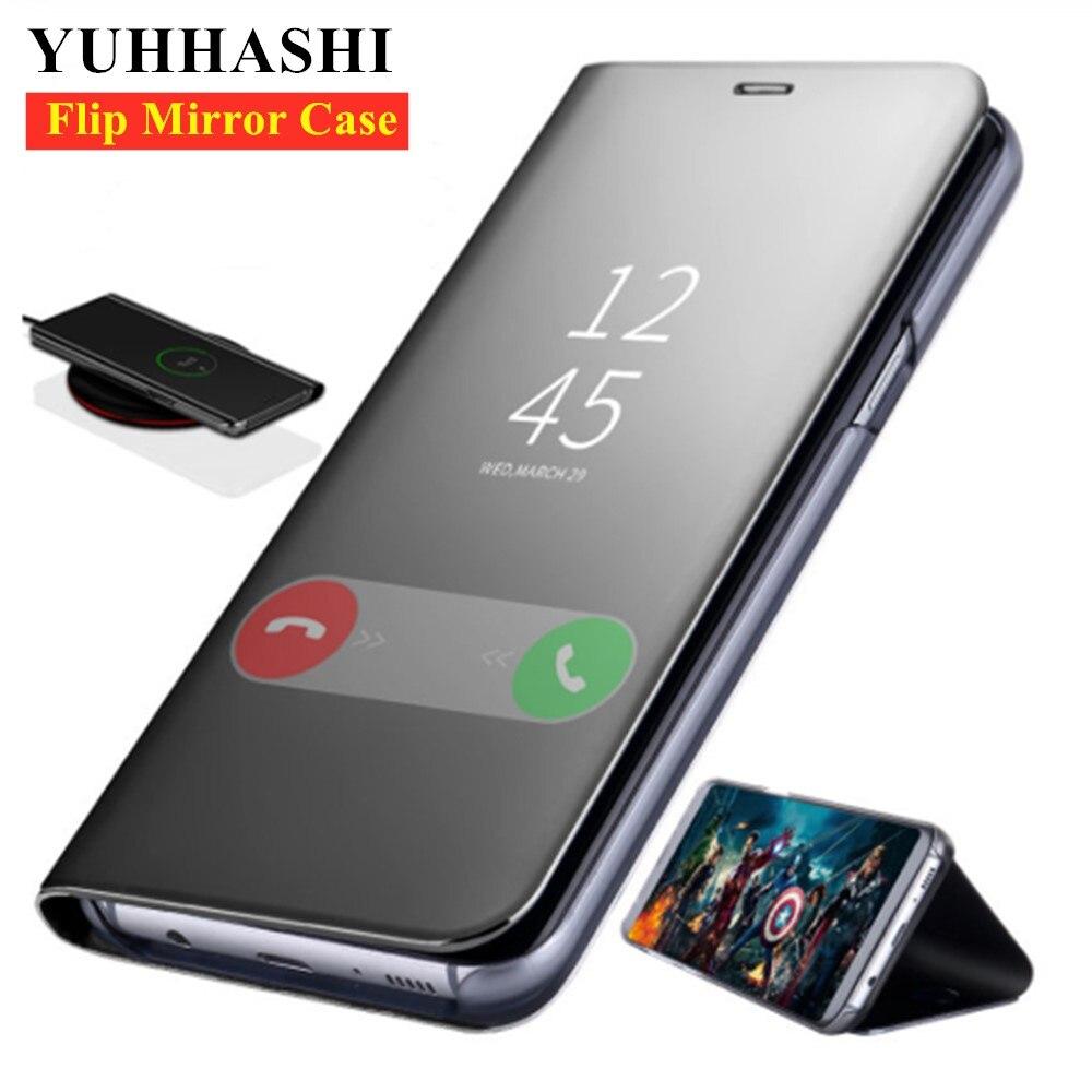 Smart Mirror Flip Case For Samsung Galaxy S9 S10 S8 Plus S10E S7 Edge Note 9 8 5 J7 J5 A6 A8 J4 2018 A3 A5 A7 2017 Coque Cover
