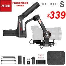 Zhiyun Weebill S 캐논 EOS R A7III A7M3 Z6 Z7 S2 미러리스 카메라 용 휴대용 3 축 핸드 헬드 짐벌 안정기 OLED 디스플레이