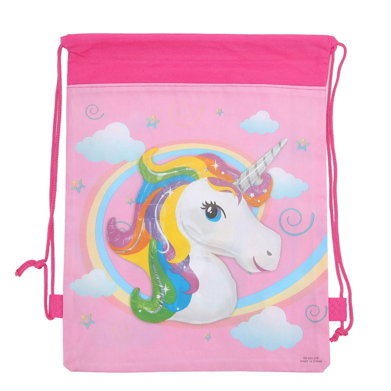 12PCS/Pack Horse Drawstring Bags Kids Back Bags Cartoon Theme String Bags Animal Drawstring Bag