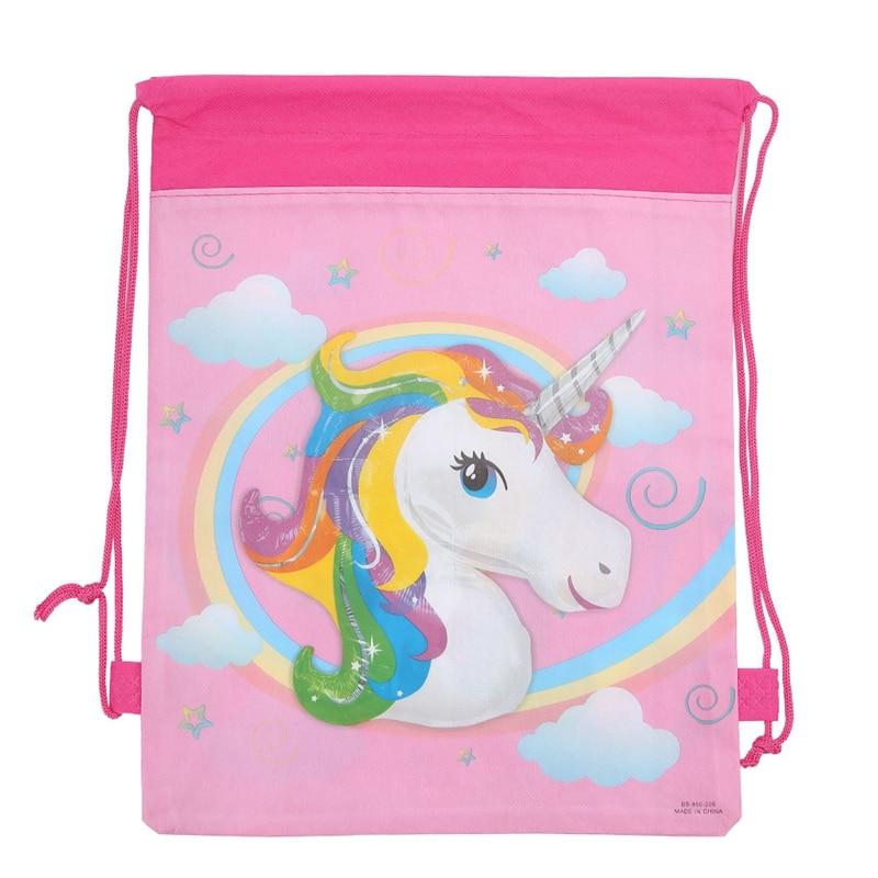 12PCS/Pack Horse Drawstring Bags Kids Back Bags Cartoon Theme String Bags Animal Drawstring Bag