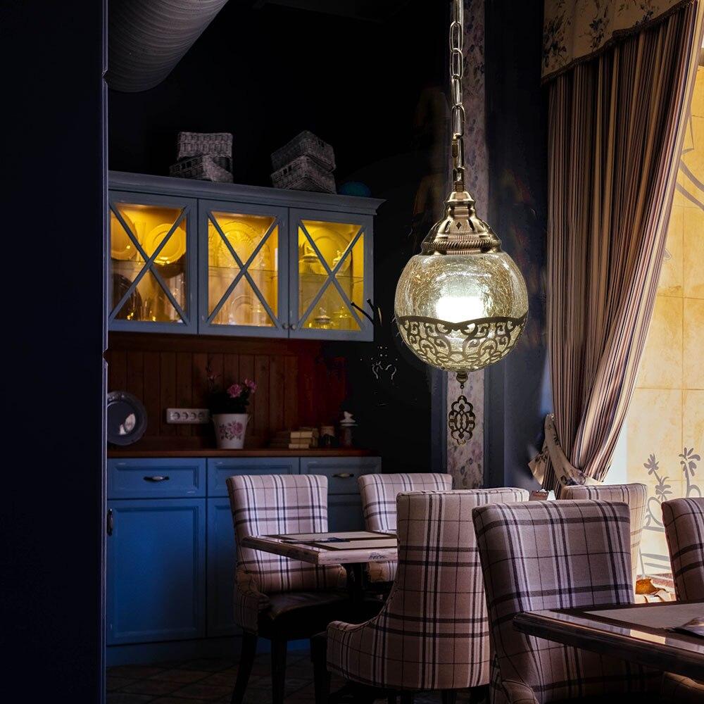 Artpad Retro Pendant Lamp Vintage Turkey Romantic Olive Luminaria Pendente Moderna Pendant Light Fixture E27 Glass Indoor Lamps