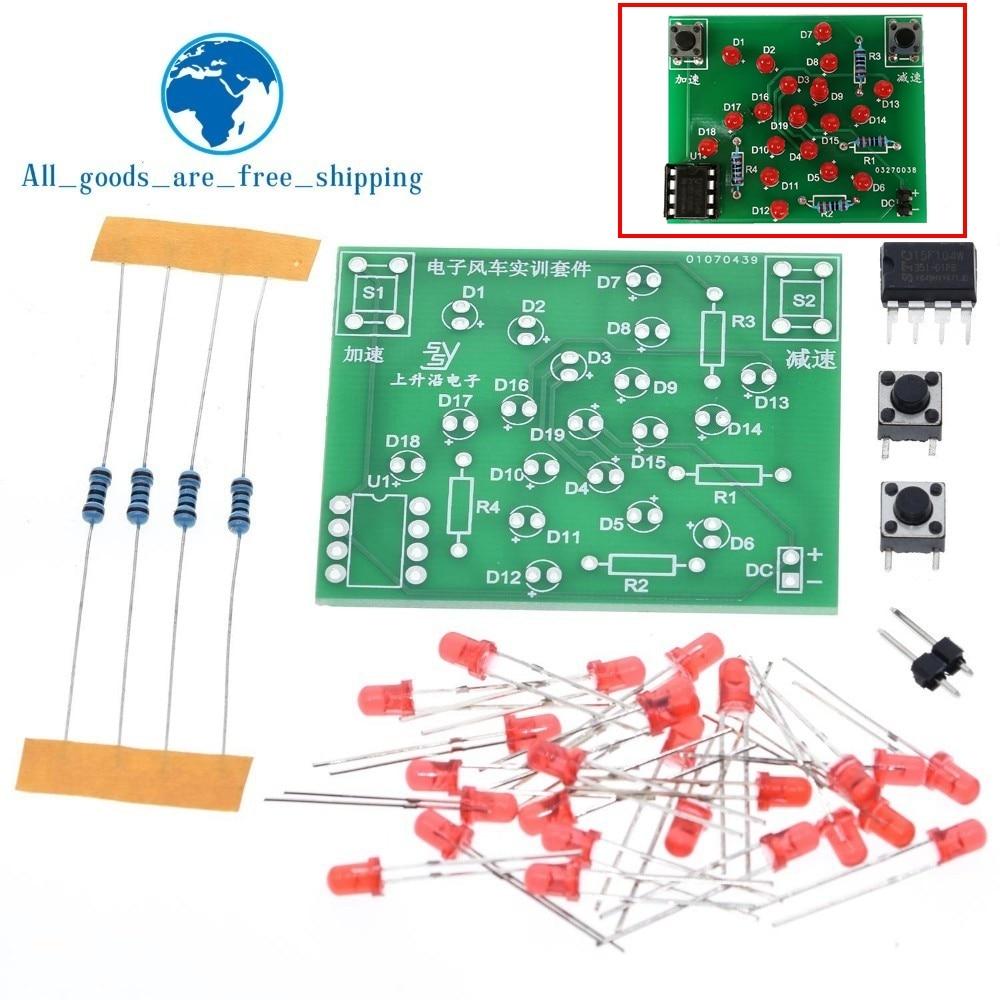 Набор для самостоятельной сборки электронная мельница набор DC 5V смешные DIY для практики Регулируемая Скорость MCU дизайн для пайки электронный DIY Набор|Интегральные схемы|   | АлиЭкспресс