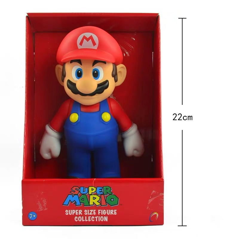 Free Shipping 9 Inch Japanese Anime Super Mario Doll Action Figure Model Birthday Gift