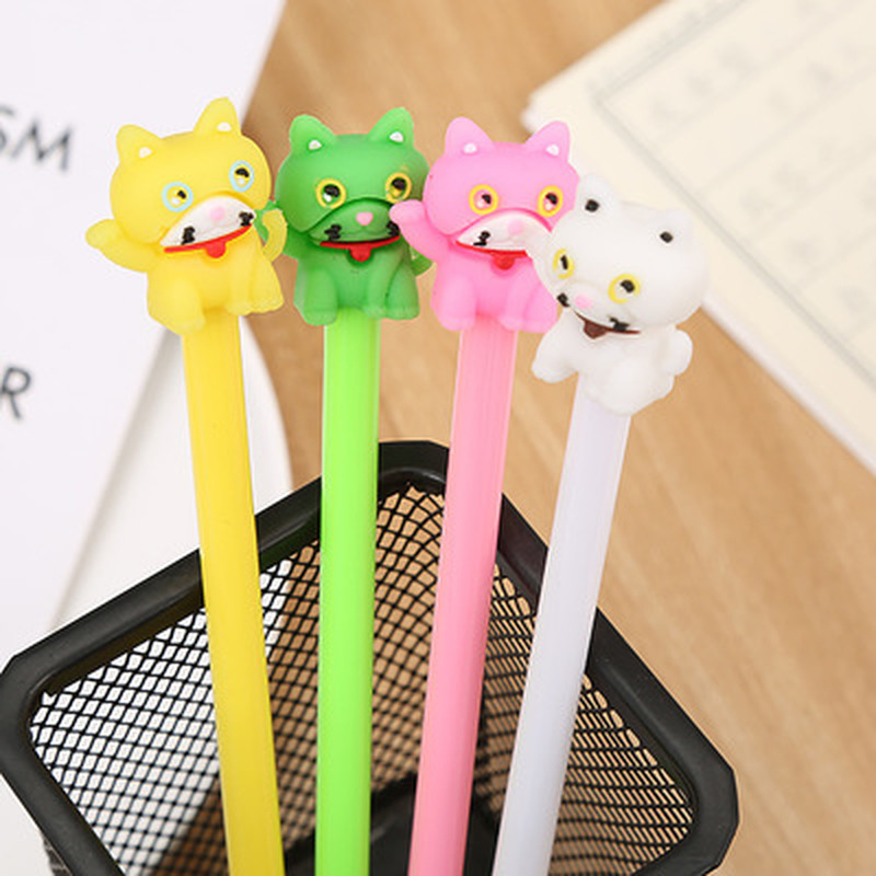 Lucky Cat Gel Pen 0.5mm Novelty Cute Pens Cute Stationery Writing Cartoon Gel Pens Student Kawaii Pen Kawaii School Supplies