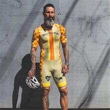 Love The Pain Men Cycling Skinsuit Triathlon Speedsuit Short Sleeve Jumpsuit Maillot Ciclismo Pro Team Running Clothing Bodysuit