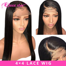 Peruvian 4*4 Lace Closure Wig Straight Human Hair Wigs For Black Women Non Remy Jazz Star Preplucked Lace Wig with Baby Hair(China)