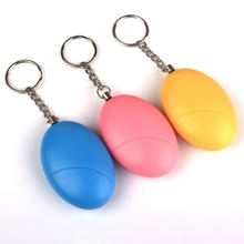 Self Defense Egg-Shaped Alarms Girl Women Security Protect Alert Personal Protable Safety Loud Keychain Emergency Urgency Alarms donphia anti lost alarm supper mini security protect alert safety personal scream loud keychain alarm egg shape for girl women