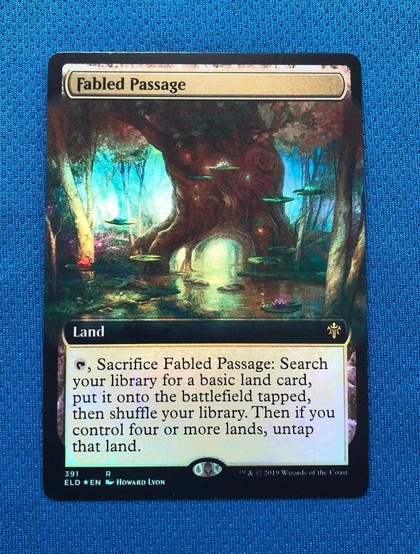 Fabled Passage (extended Art) Throne Of Eldra Foil Magician ProxyKing 8.0 VIP The Proxy Cards To Gathering Every Single Mg Card.