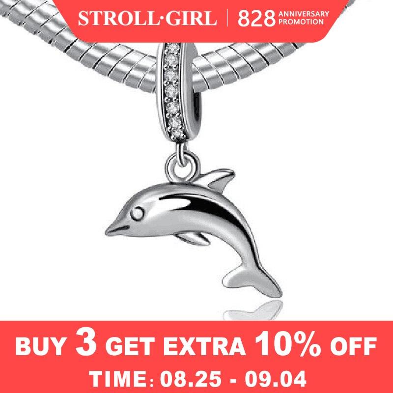 Strollgirl Charm Beads Pendant Bead-Jewelry-Making Gift Animal Fit Pandora 925-Sterling-Silver
