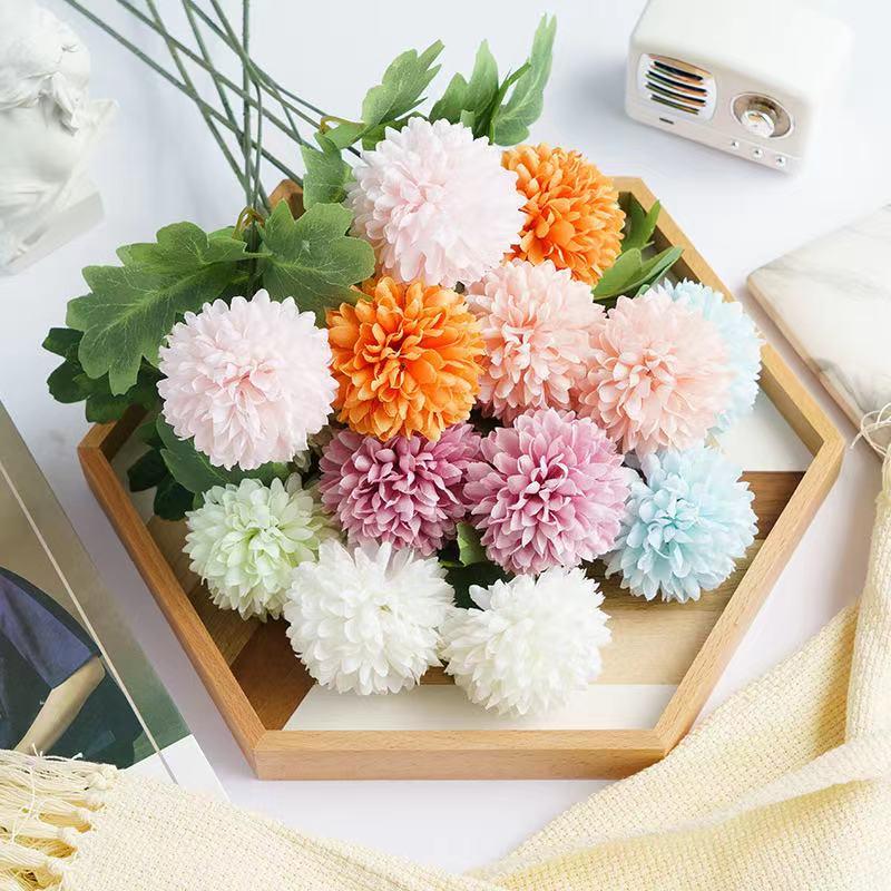 Искусственные цветы, ветка гортензии, домашний Свадебный декор, Осенний Шелковый пластиковый цветок высокого качества, искусственный цвет...