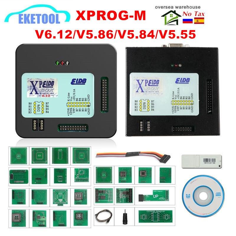 Professional XPROG V6.12/V5.55/5.84/V5.86 XPROG-M 6.12 ECU Programmer Metal Box X-PROG Upgrade EEPROM Programming Tool