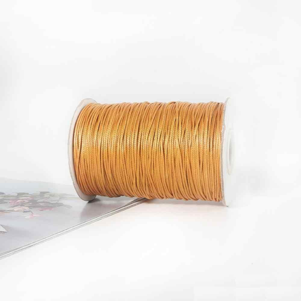 1 Mm 1M Lengte Gewaxt Draad Koord Voor Diy Handwerk Tool Hand Stiksels Draad Platte Gewaxte Naaien Lijn