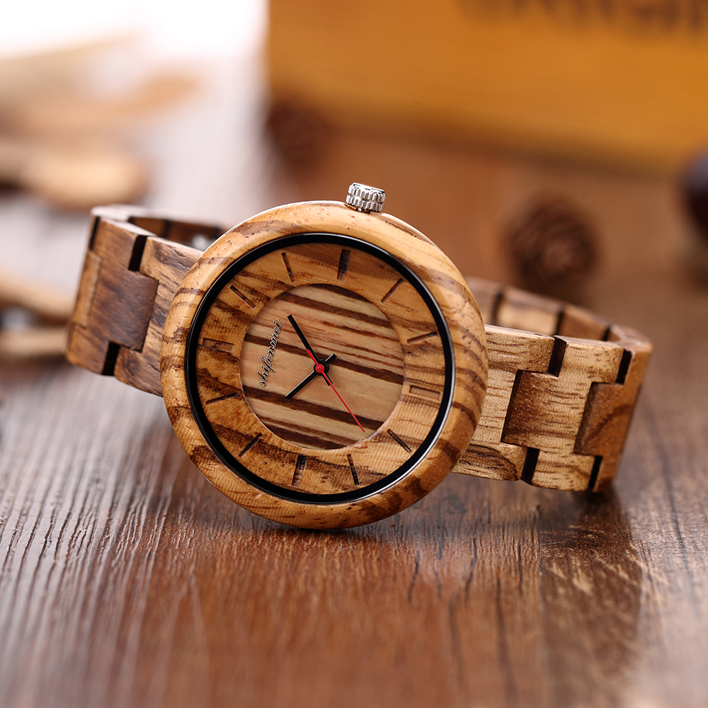 Shifenmei Elegant luxury quartz watch for ladies Wooden quartz watch for women Elegant bracelets Birthday gifts Holiday annivers|Women's Watches| |  -