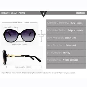 Image 4 - Очки солнцезащитные женские поляризационные в большой оправе, UV400