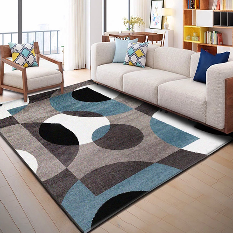 European Geometric Carpets Living Room Bedroom Study Bedside Carpet Rectangle Modern Decor Tatami Rug Home Yoga 3D Blanket Mat