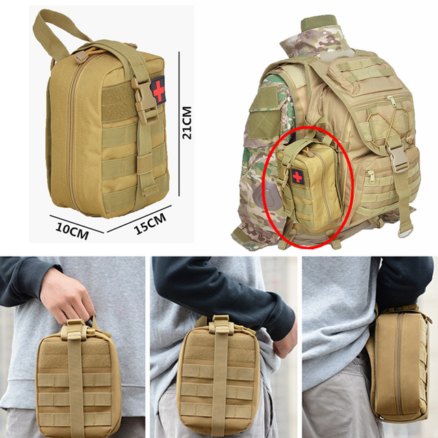 Molle Tactical First Aid Kits Medical Bag Emergency Outdoor Army Hunting Car Emergency Camping Survival Tool Military EDC Pouch 3