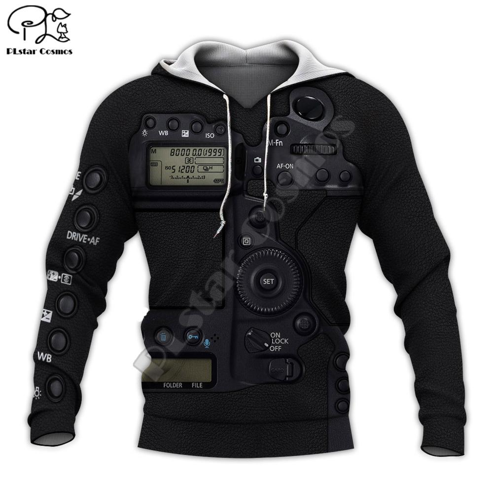 Mens Women Camera Lens Eos 3d All Over Printed Hoodies Unisex Long Sleeve Sweatshirts Jacket Warrior Pullover Tracksuit