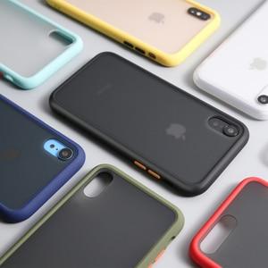 Image 3 - Luxus Stoßfest Fall auf Für iPhone 12 11 Pro Max mini Silikon Transluzenten Matte Telefon Abdeckung Für iPhone X XS XR 7 8 Plus Fällen