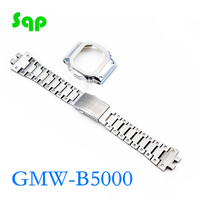 GMW B5000 Upgrade Silver Set Watch Modification Watchband Bezel/Case 100%Stainless Steel