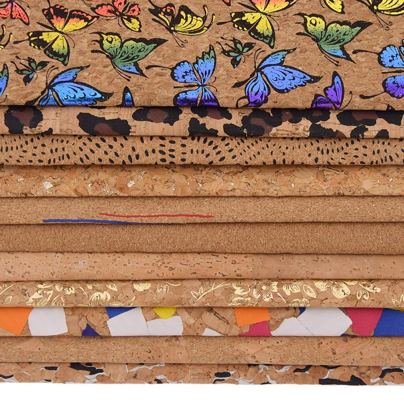 Lychee Life 1 ярд A3 A4 A5 винтажная мягкая пробковая Синтетическая кожаная ткань для одежды сумок Ручной Работы Цветочная Ткань для шитья