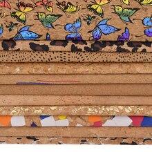 Lychee vida 1 quintal a3 a4 a5 cortiça macia do vintage tecido de couro sintético para vestuário bolsas artesanal floral costura tecido