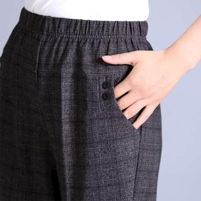 Missmeow rahat yüksek bel kalem pantolon kadın çizgili düz Harem pantolon kadınlar elastik siyah/ofis pantolon artı boyutu pantolon