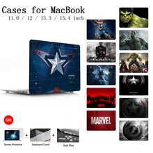 For Macbook 12 Air 13 A1932 A1466 Pro Retina 13 15 Case For Apple MacBook Case Pro 13 15 Touch bar A2159 Shell Keyboard Cover цена и фото