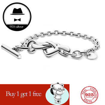 fit original pan bracelet for women authentic100% 925 sterling silver charm chain snake fashion classic luxury jewelry