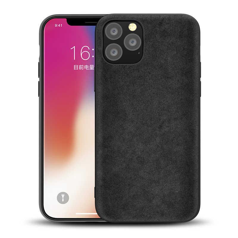 Da lộn Lông Dành Cho Apple iPhone 11 PRO MAX cao cấp Dành Cho iPhone XS MAX XR X 6 7 8 6S PLUS da Telefon Huyện Kilifi Fundas Coque