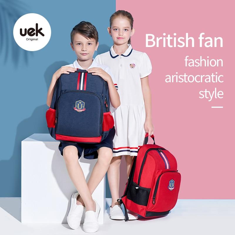Uek Boys Backpack Large School Bag For Girls Nylon Student Bookbag For Children'S Waterproof Lightweight Backpack Travel Handbag