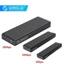 Orico M2PAC3-G20 ssd caso m.2 nvme m chave m & b chave de estado sólido caixa tipo c usb 3.2 20gbps disco rígido externo gabinete