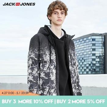 JackJones Mens hooded winter Camo short  Coat|  219312525