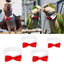 Bow-Tie Reusable-Parrot-Clothes Birds Large Red for Small Middle Decoration Pets-Supplies