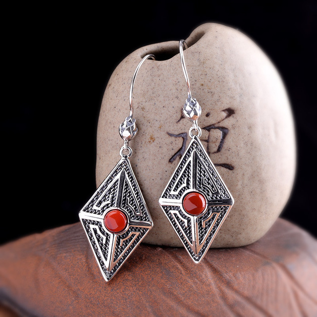 products manufacturer direct sales of Taiyin Sterling Silver 925 pure silver jewelry diamond lady natural South.jpg 640x640 - products manufacturer direct sales of Taiyin Sterling Silver 925 pure silver jewelry diamond lady natural South Red Earrings